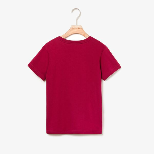 Boy's Basic Crew Neck Tee, BORDEAUX, hi-res