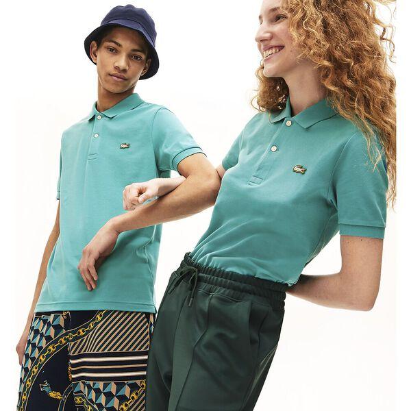 Unisex LIVE Slim Fit Stretch Cotton Piqué Polo, NIAGARA, hi-res