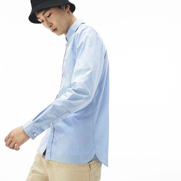 Men's Slim Fit Stretch Popelin Shirt, CREEK, hi-res