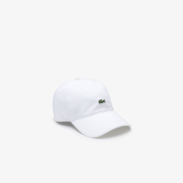 Contrast Strap And Crocodile Cotton Cap, BLANC, hi-res