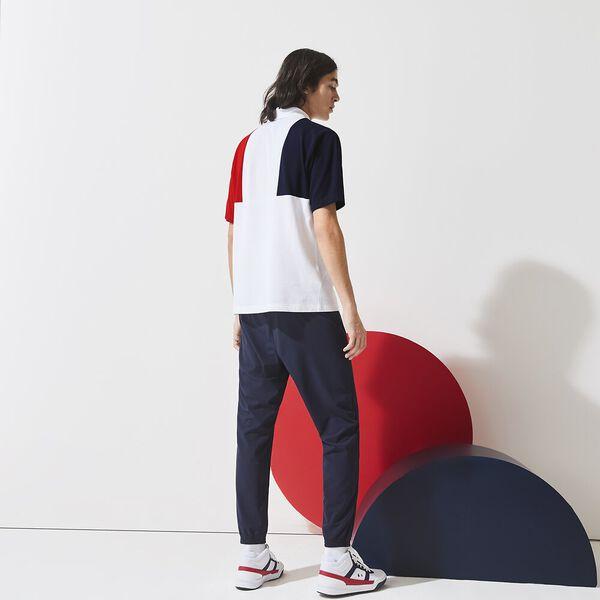 Men's SPORT French Sporting Spirit Tricolour Polo, NAVY BLUE/WHITE-RED, hi-res