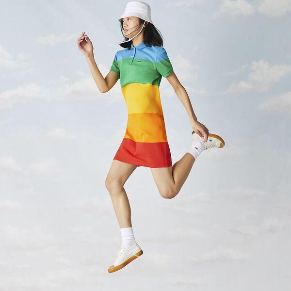 Women's Lacoste x Polaroid Striped Cotton Piqué Polo Dress