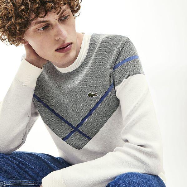 Men's Made In France Jacquard Crew Neck Knit