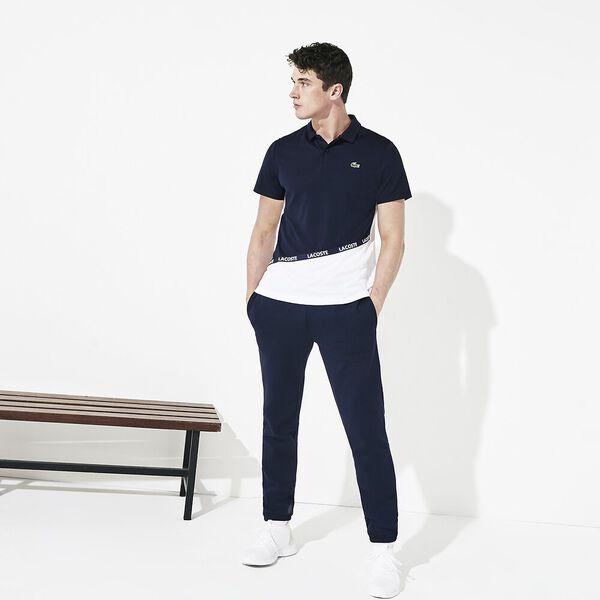 Men's Tennis Ultra Dry Colour Block Polo, NAVY BLUE/WHITE-RED, hi-res