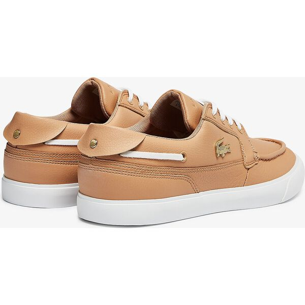 Men's Bayliss Deck Leather Sneakers, TAN/WHITE, hi-res