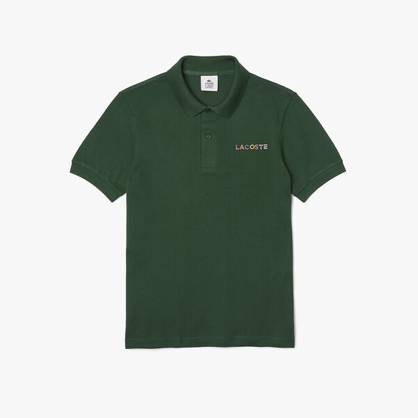 Unisex LIVE Loose Fit Colorblock Polo, GREEN, hi-res