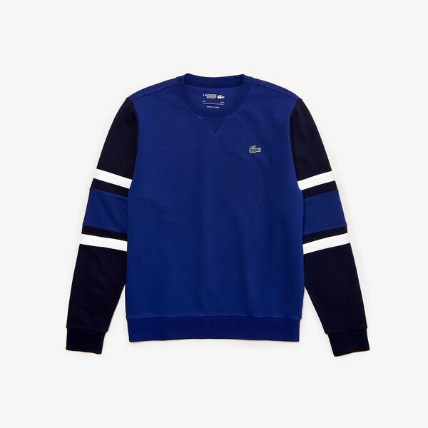 Men's Tennis Non Brushed Sweatshirt, OCEAN/NAVY BLUE-WHITE-OCELOT, hi-res