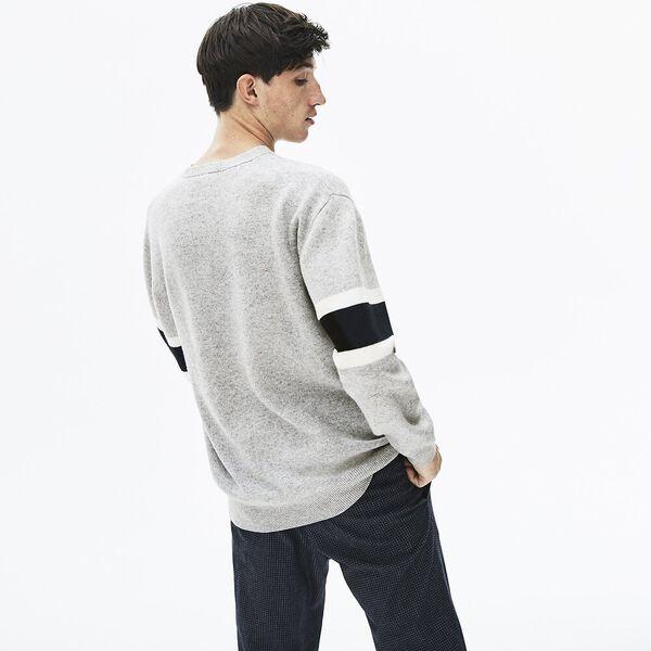 Men's 90S Sportswear Jacquard Knit, SILVER CHINE/BLACK-FLOUR, hi-res