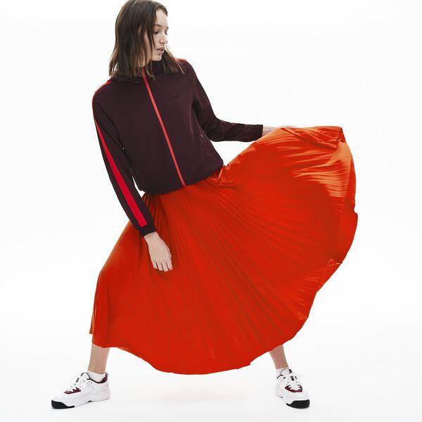 Women's Branded Elasticised Pleated Skirt, CORRIDA, hi-res