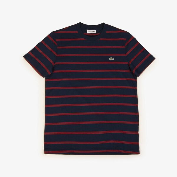 Men's Striped Ref Fit Tee, NAVY BLUE/ALIZARIN, hi-res