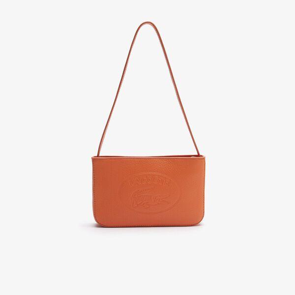 Women's Croco Crew Grained Leather Baguette Bag