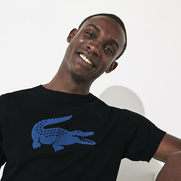 Men's Big Croc Tee, BLACK/ILLUMINATION, hi-res
