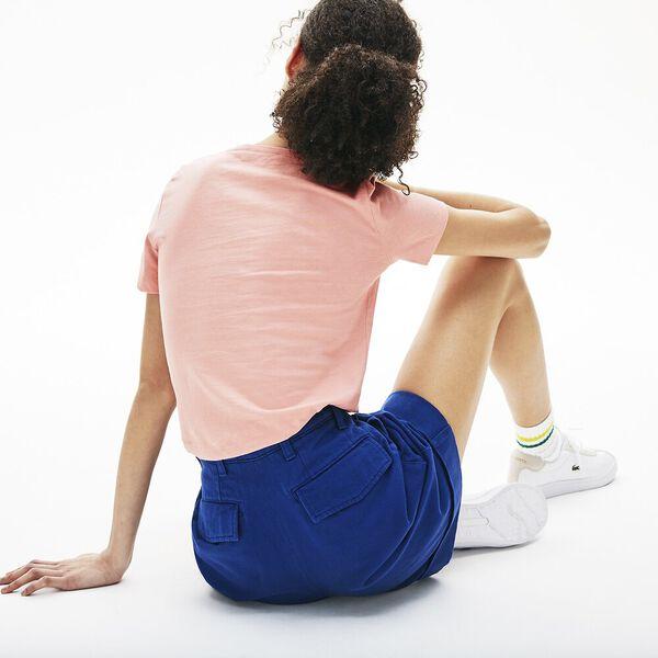 WOMEN'S CREW NECK SOLID TEE, CEMBRA, hi-res
