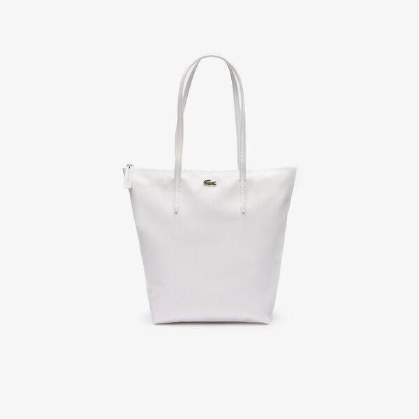 WOMEN'S L.12.12 VERTICAL SHOPPING BAG, WHITE, hi-res