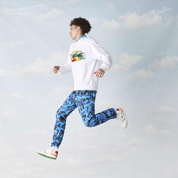 Unisex Lacoste LIVE x Polaroid Fleece Sweatshirt, WHITE, hi-res