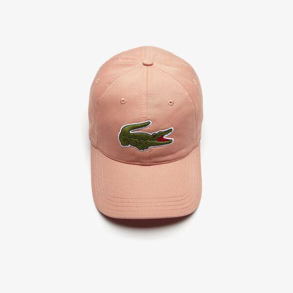 Men's Contrast Strap And Oversized Crocodile Cotton Cap, ELFE, hi-res