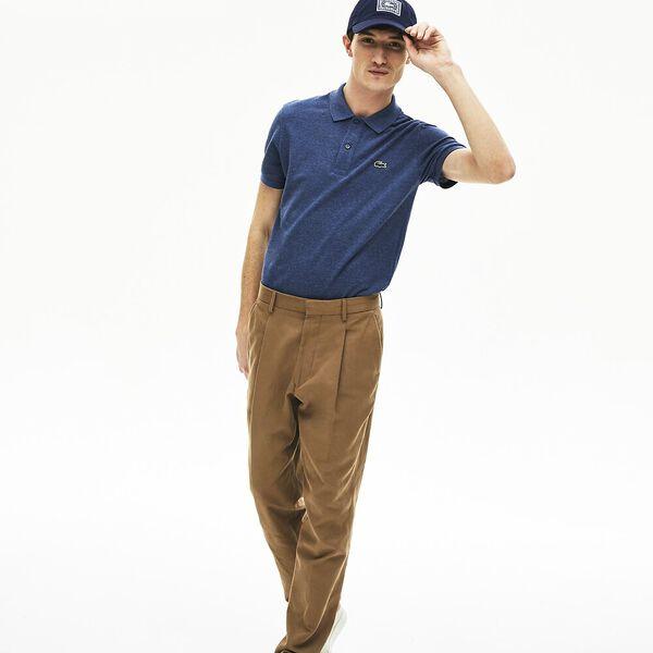 Men's Slim fit Polo, BLEU INDIGO MOYEN, hi-res