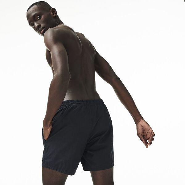 Men's Basic Swim Short, BLACK/NAVY BLUE, hi-res