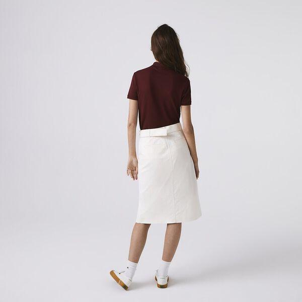 Women's Lacoste Stretch Cotton Piqué Polo Shirt, PIN, hi-res
