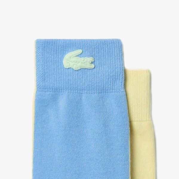 Unisex LIVE Bicolor Stretch Cotton Socks, ZABAGLIONE/NATTIER BLUE 0, hi-res