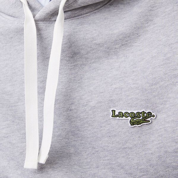 Men's Hooded Fleece Sweatshirt, HOODIE SILVE, hi-res