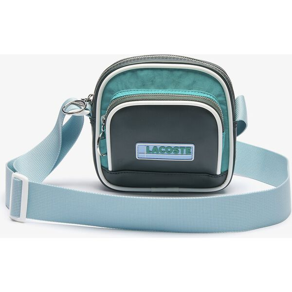 Unisex LCST Badge Colorblock Zip Shoulder Bag