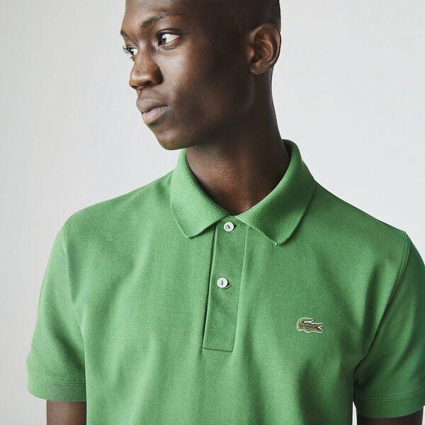 Men's Lacoste Classic Fit L.12.21 Organic Cotton Piqué Polo Shirt, CHERVIL, hi-res