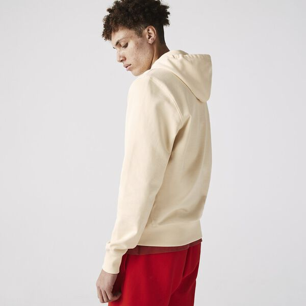 Unisex Hooded Organic Cotton Fleece Sweatshirt, CLAIR, hi-res