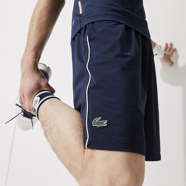 Men's SPORT French Open Edition Lightweight Stretch Shorts, NAVY BLUE/WHITE-NAVY BLUE, hi-res