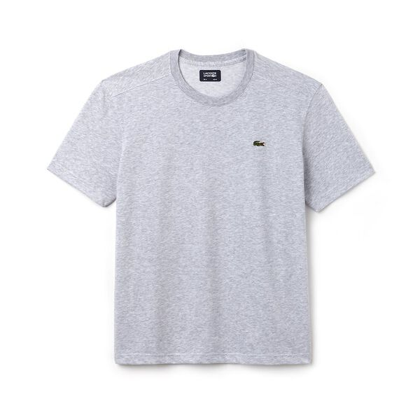 MEN'S BASIC CREW NECK SPORT TEE, SILVER CHINE, hi-res