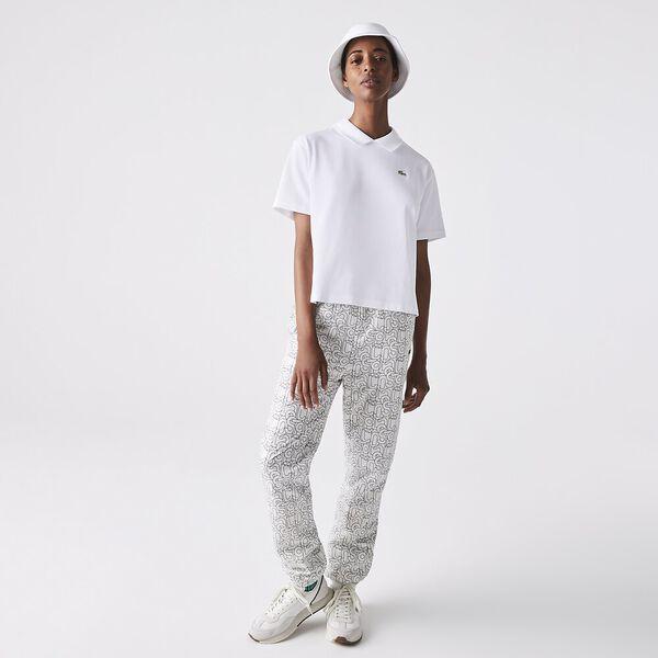 Women's LIVE Boxy Fit Stretch Cotton Shirt, WHITE, hi-res