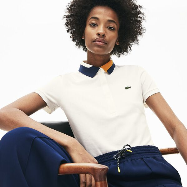 Women's Clean Stripes Slim Fit Polo