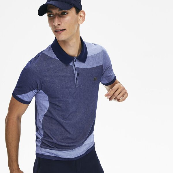 Men's Lacoste Motion Ergonomic Polo Shirt, METHYLENE/PURPY, hi-res