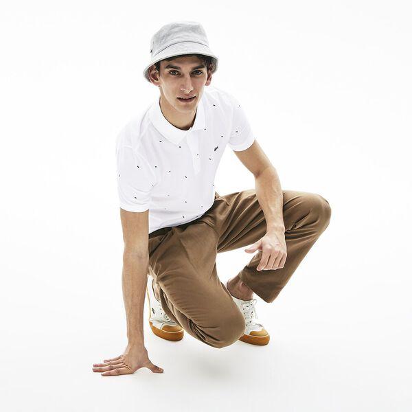Men's Slim Fit Polo, BLANC, hi-res