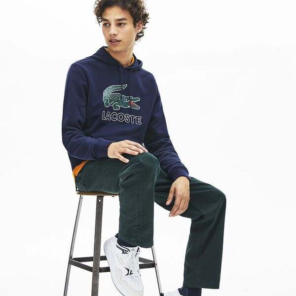 Men's Lacoste Croc Pullover, NAVY BLUE, hi-res