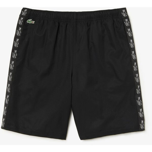 Men's Side Taping Tennis Short, BLACK/BLACK, hi-res
