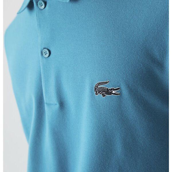 Men's Jacquard Signature Collar Stretch Cotton Polo, REEF, hi-res
