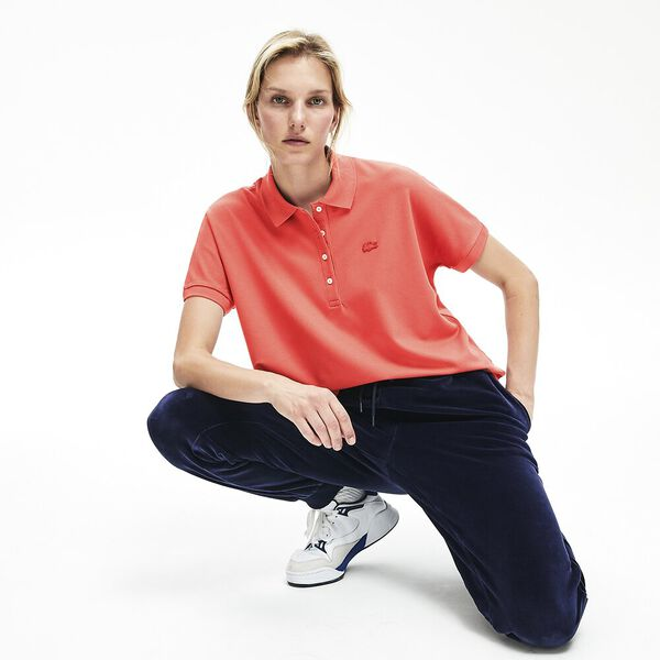 Women's Relaxed Fit Polo, SIERRA RED, hi-res