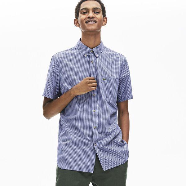 Men's Regular Fit Gingham Cotton Shirt
