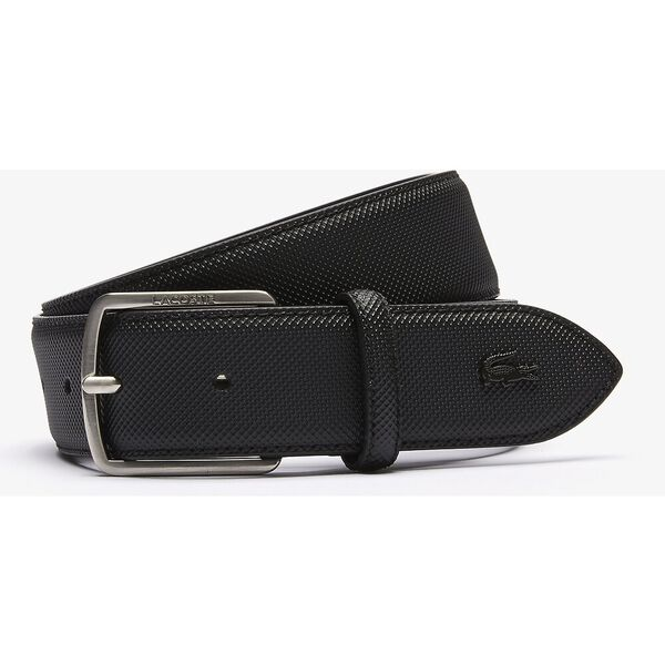 Men's Engraved Buckle Piqué Canvas Belt