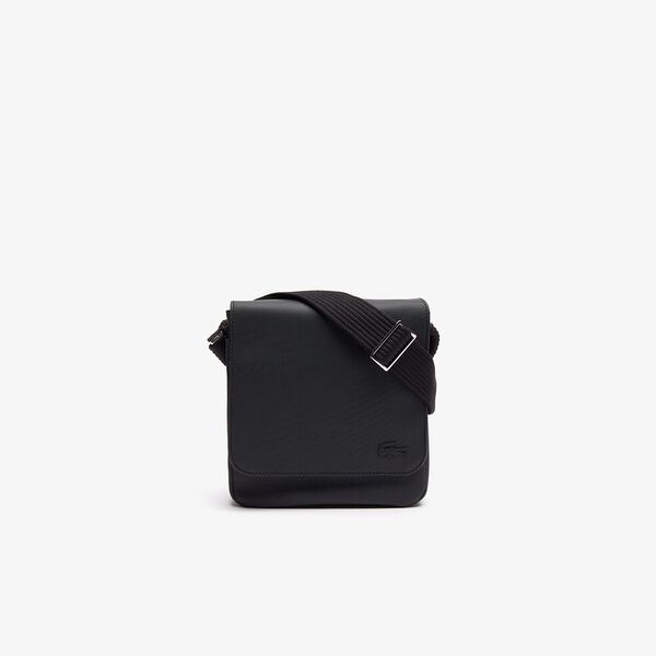 Men's Classic Flap Xover Bag Black