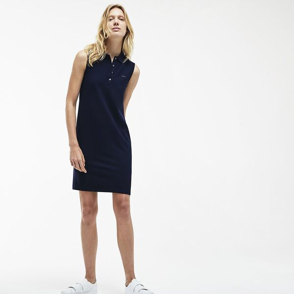 WOMEN'S SLEEVELESS POLO DRESS
