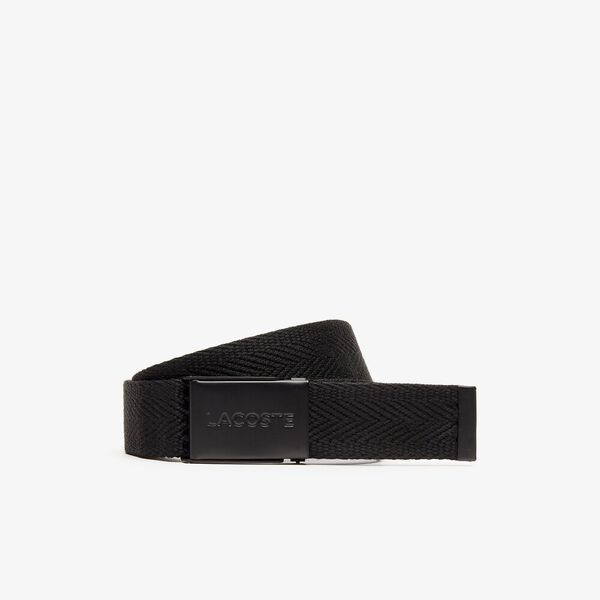 Men's Casual 35Mm Woven Belt, BLACK, hi-res