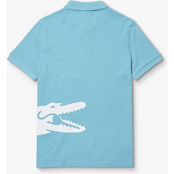 Men's Lacoste Oversized Crocodile Print Polo Shirt, CICER, hi-res