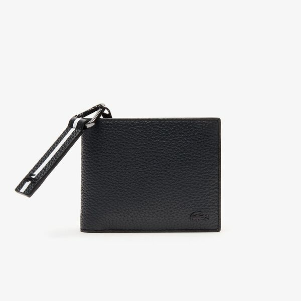 Men's Altitude Striped Zip Pull Grained Leather Wallet