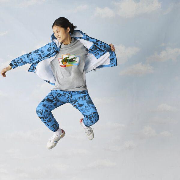 Unisex Lacoste LIVE x Polaroid Zip Jacket, FIJI/BLACK, hi-res