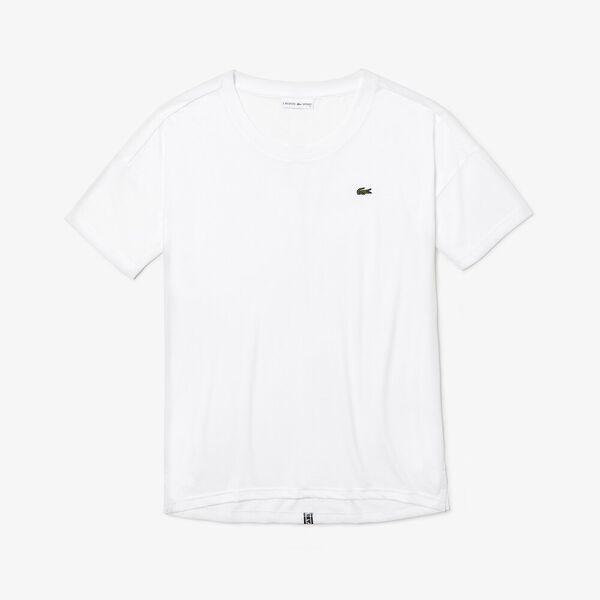 Women's Tennis Plain Jersey Tee, WHITE/BLACK-WHITE, hi-res