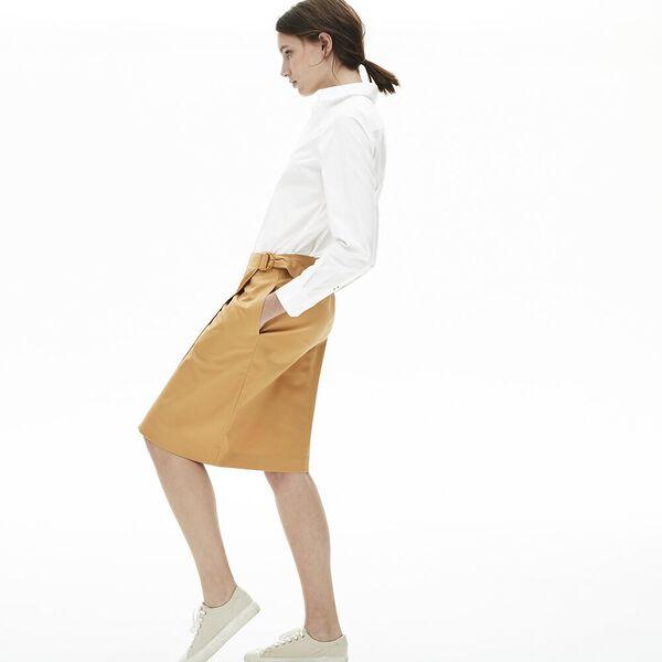 Women's Cotton Poplin Shirt, BLANC, hi-res