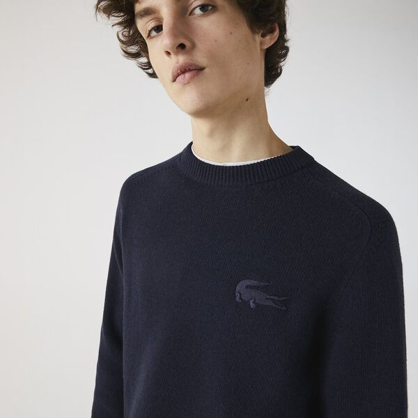 Men's Cotton And Wool Blend knitted Sweater, ABYSM, hi-res
