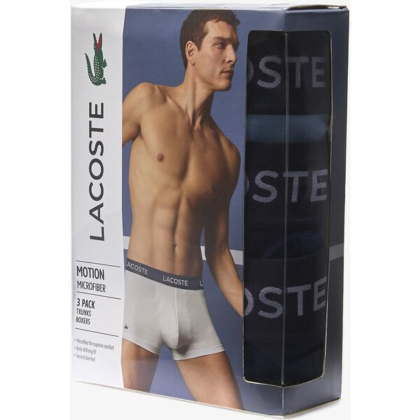 Men's Microfiber Trunk 3-Pack, NAVY BLUE/METHYLENE-TROPI, hi-res